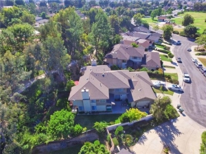 aerial shot of hacienda heights